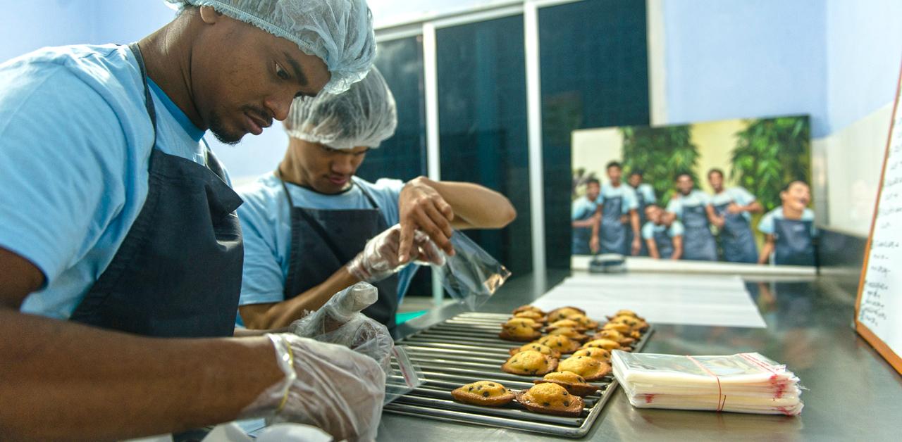 Shuktara Cakes, Raju and Ashok doing the packaging