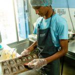 Shuktara Cakes - Pinku prepping the madeleine tray