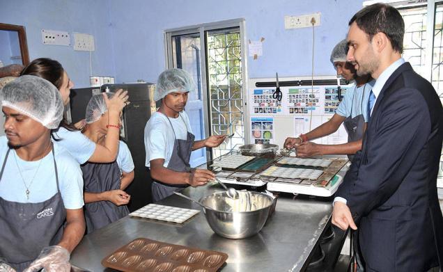 Shuktara Cakes team with Damien Syed, Consul General of France in Kolkata